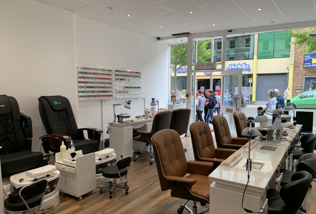 City Nails & Beauty Nottingham Interior